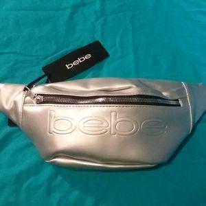 Bebe silver fanny pack
